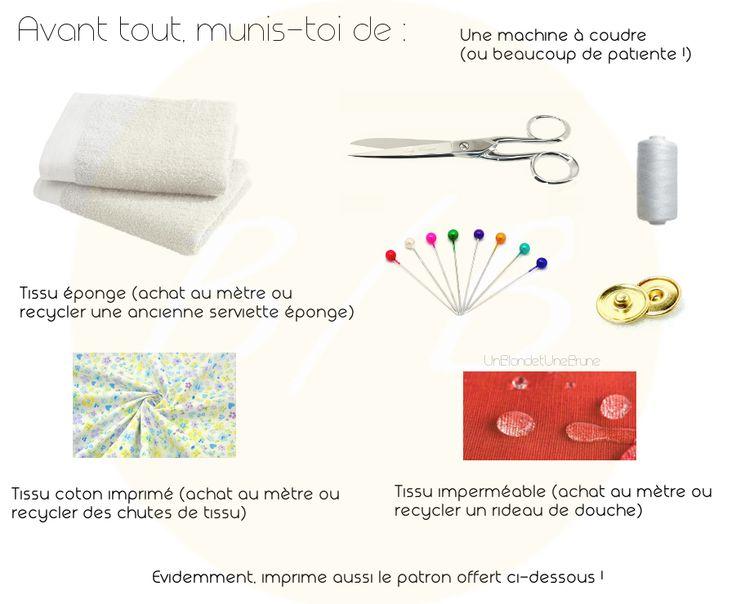 DIY facile, écologique et économique pour réaliser toi même tes serviettes hygiéniques lavables.