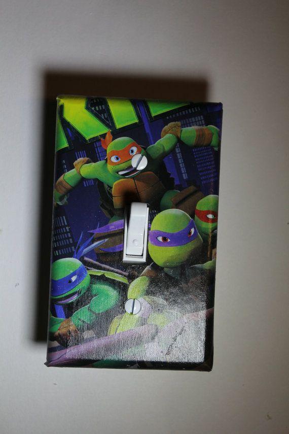 Teenage Mutant Ninja Turtles TMNT Light Switch Plate Cover Kids Room Home  Decor Donetello Leonardo Raphael Michaelangelo