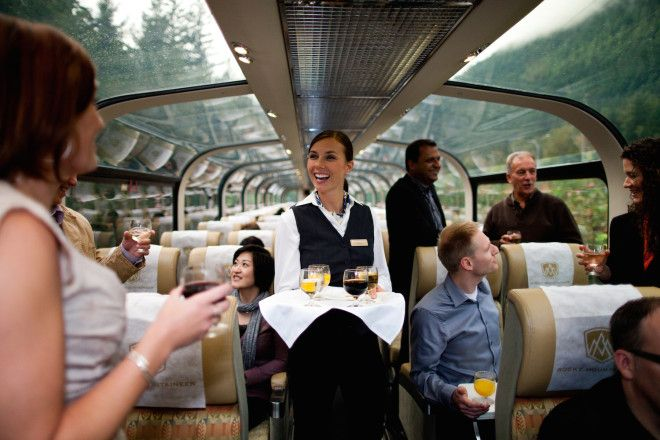25 Gaze through the glass domes of the Rocky Mountaineer