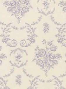 Saratoga Toile - Lilac Wallpaper