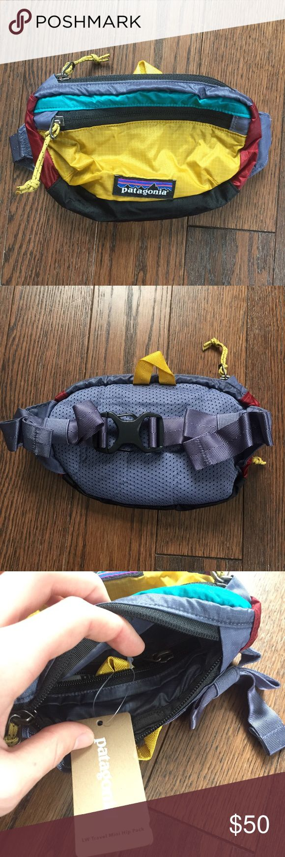 "Patagonia Travel Mini Hip Pack Fanny Pack The elusive ""patchwork"" color. This is discontinued by Patagonia. Get it while you can! This is brand new with the tag still attached. Patagonia Bags"