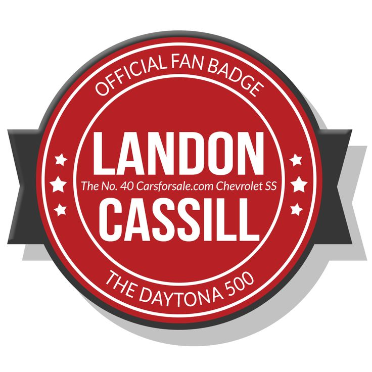 Landon Cassill, Hillman Racing and Carsforsale.com are together again for the Daytona 500! Repin this Fan Badge to show Landon your support.
