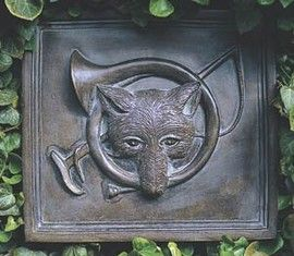 Fox & Horn Wall Plaque Wall Plaques & Signs - Fox Decor - By House Parts at Horse and Hound Gallery