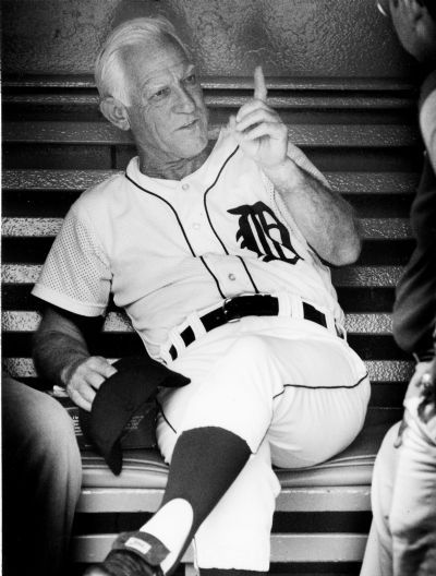 Detroit Tiger's former manager, Sparky Anderson at Tiger Stadium