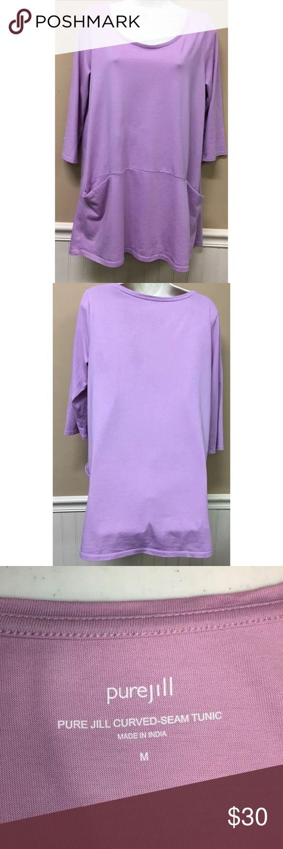 Pure Jill Curved Seam Tunic Top Purple Size Medium Pure Jill Curved Seam Tunic Top Purple Womens Size Medium Pima Cotton J. Jill Tops Tunics