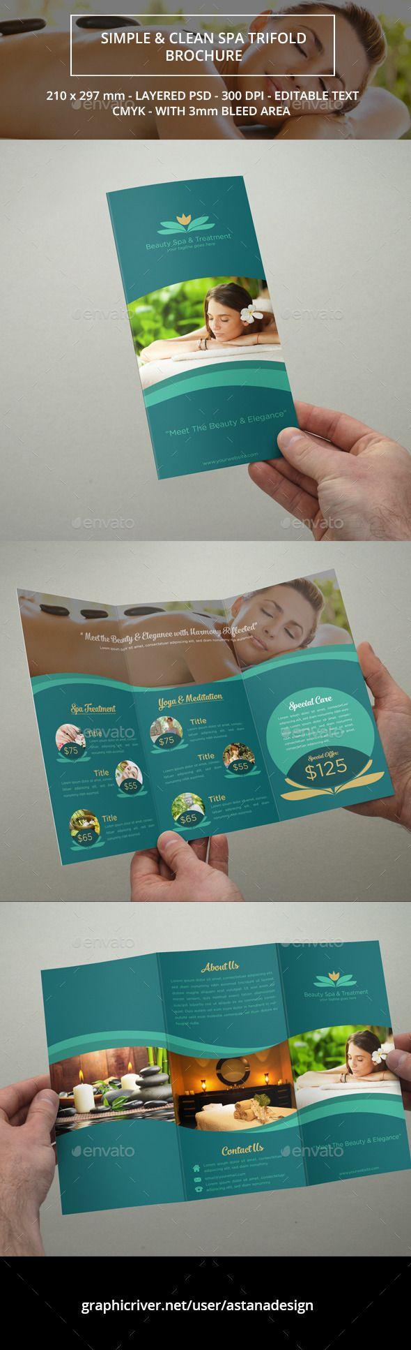 Beauty Spa Trifold Brochure Template #brochure Download: http://graphicriver.net/item/beauty-spa-trifold-brochure/11732800?ref=ksioks