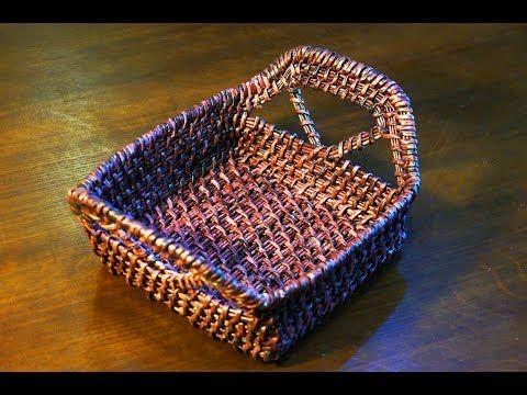 Как сплести прямоугольную корзинку, имитация плетения из травы | oblacco