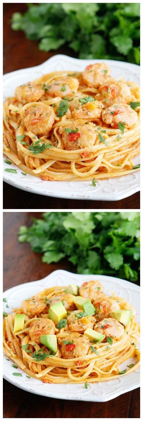Caribbean Shrimp Pasta by Aimee Arp