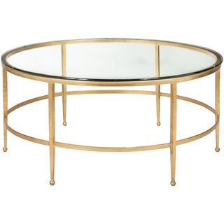 Round Glass Top Metal Coffee Table | Overstock.com Shopping - The Best Deals on Coffee, Sofa & End Tables
