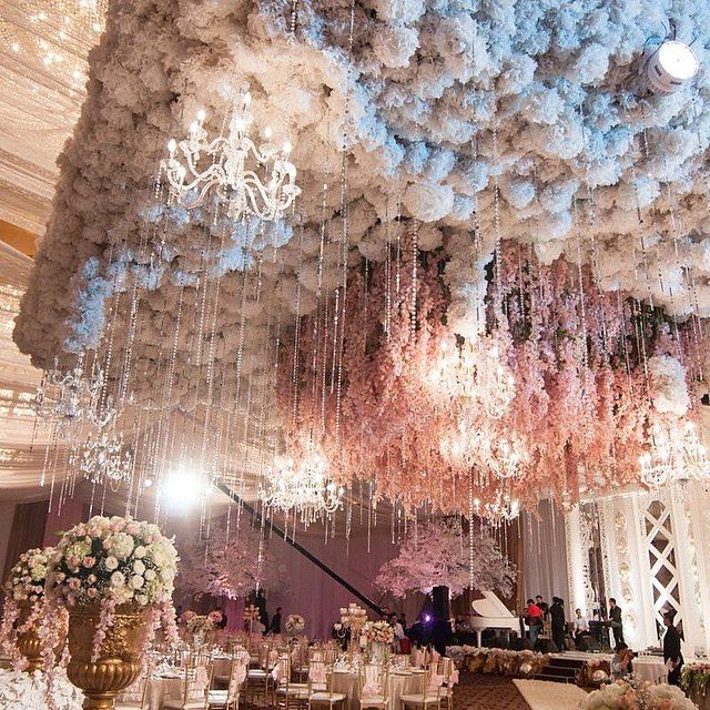 1642 best wedluxe design lab luxury weddings images on pinterest the awe inspiring suspended floral ceiling at this jakarta indonesia wedding junglespirit Image collections