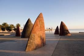 "Sails sculpture Geelong, VIC, Australia. - ""North"" Mark Stoner"