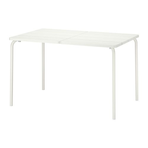 v dd table ext rieur blanc terrasse pinterest table exterieur poxy et ikea. Black Bedroom Furniture Sets. Home Design Ideas