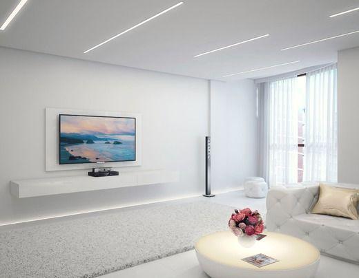 Белый минимализм- гостиная. Гостиная