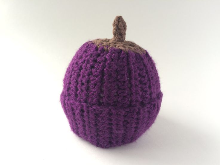 size 0-3 months grape beanie by hunnibeecrafts on Etsy