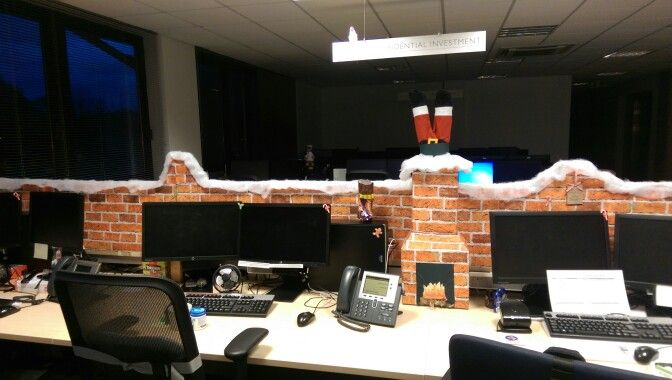 Christmas desk office cubicle decorations, with santa ...