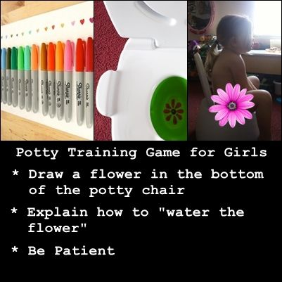 POTTY TRAINING GAME FOR GIRLS...wonder if there is one out there to do with butterflies