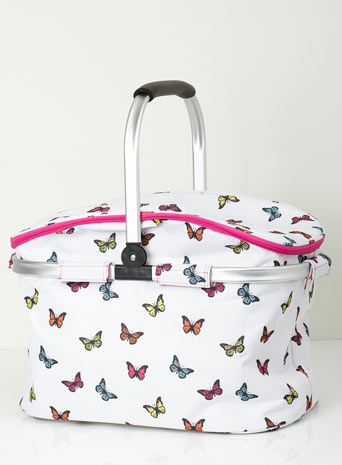 Butterfly rectangle picnic basket coolbag