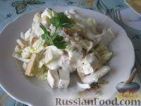"Фото к рецепту: Салат ""Цезарь"" с кальмарами"