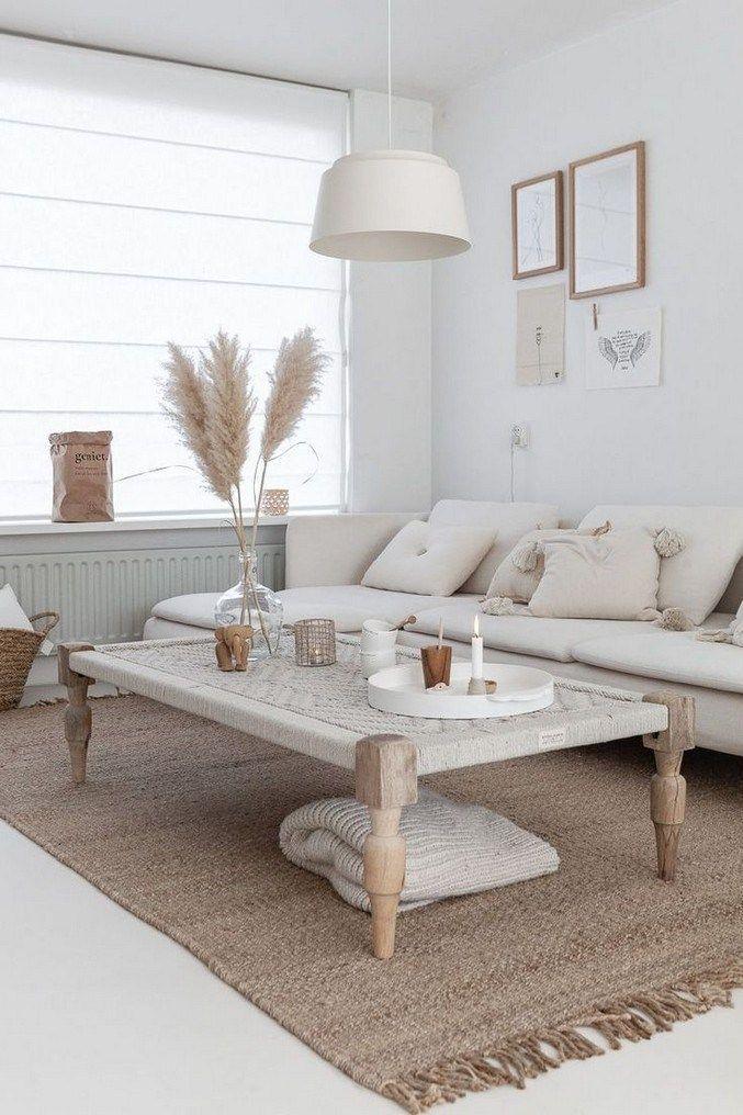 Plus De 50 Idees De Meubles Simples Et Minimalistes Pour 2019 14 En 2020 Deco Salon Blanc Deco Appartement Idee Deco Salon