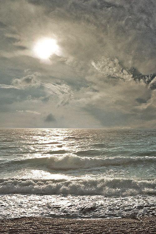 Sunlight reflection on the beach