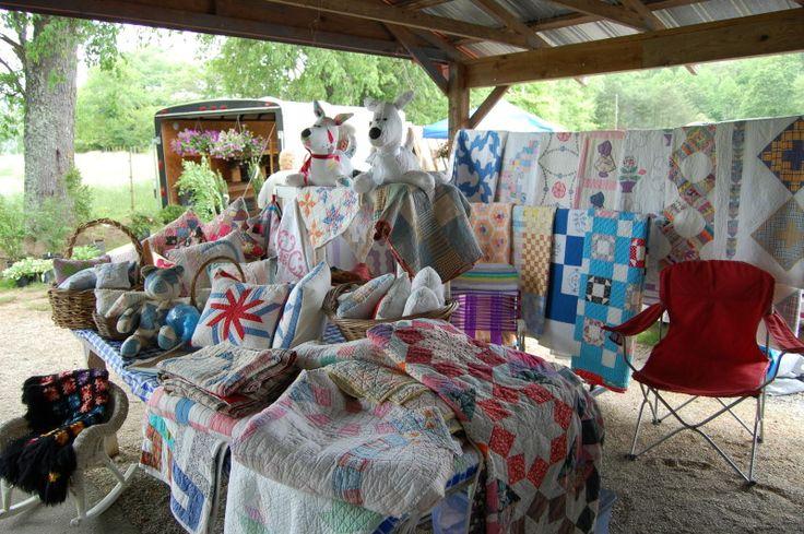 Rabun Gap Flea Market  in Dillard Georgia with fresh produce, flea market furniture and wares, & handcrafted items.