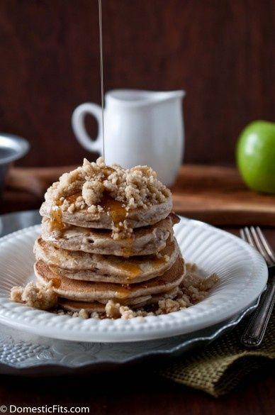Apple Streusel Pancakes #fall