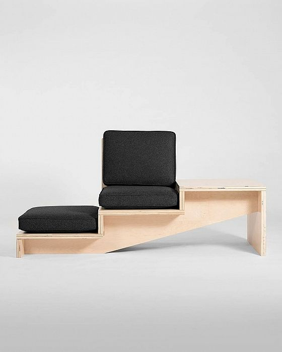 Steps Seat and Side Table System by Geof Ramsay