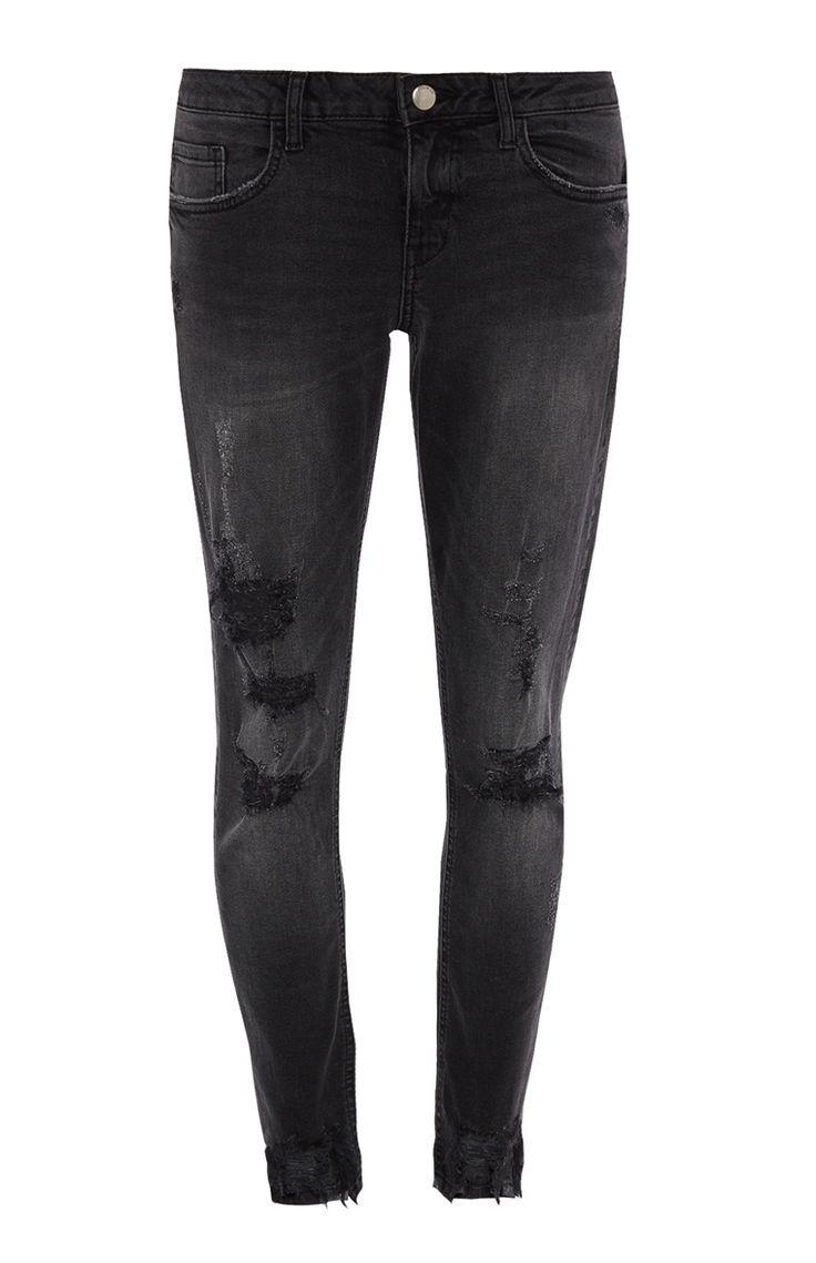 Primark - Zwarte skinny jeans met scheuren