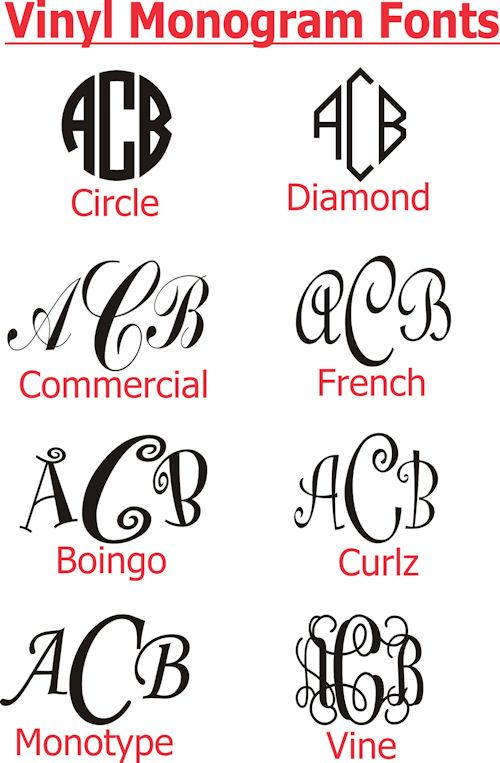 Free Monogram Fonts for Vinyl - WOW com - Image Results | Cricut