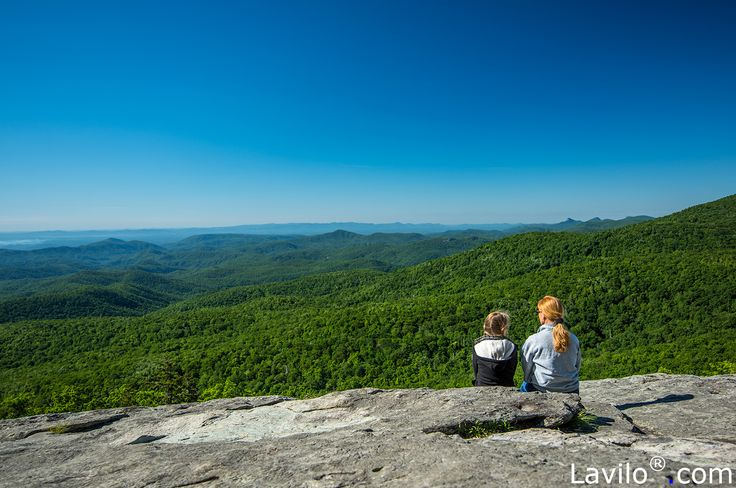 © Lavilo LLC, North Carolina. All rights reserved. Title: Beacon Heights Overlook at Milepost 305.2 on the Blue Ridge Parkway, North Carolina, Highlands Region, Blue Ridge Mountains.