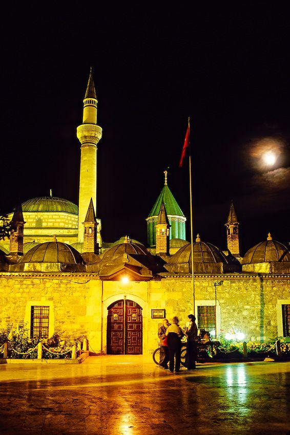 :::: PINTEREST.COM christiancross ::: Mevlana Museum and Tomb of Mevalana Celaleddin, Konya, Turkey