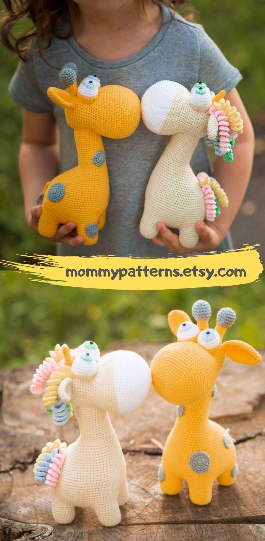 Easy PATTERNS SET Giraffe & Unicorn / Crochet pattern toy Giraffe and Unicorn – DIY: Häkeln & Stricken