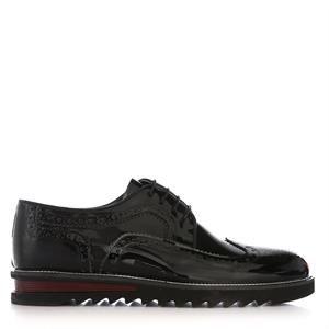 UK Polo Club 74603 Erkek Günlük Ayakkabı Siyah Rugan