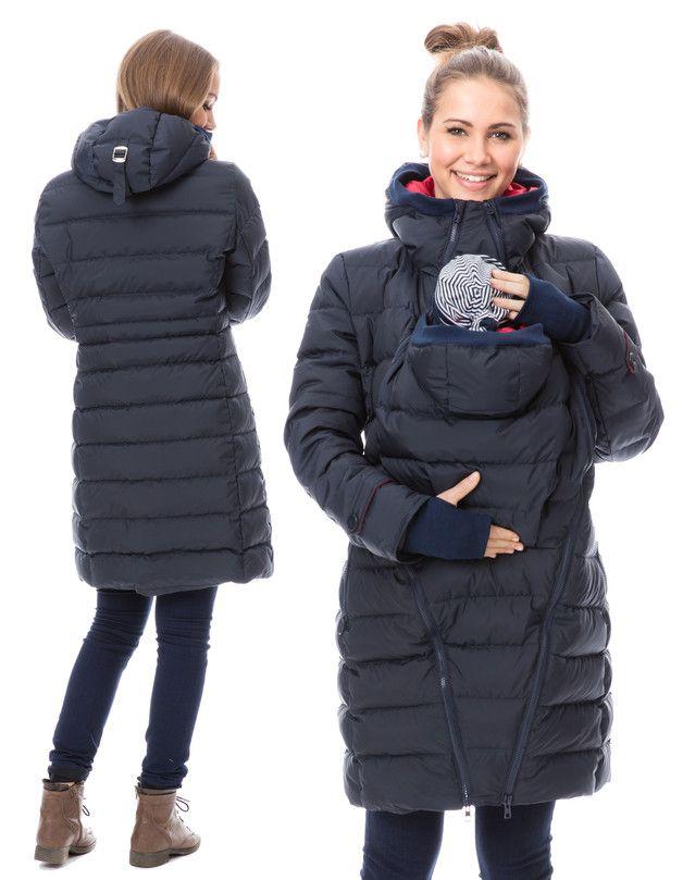 Tragetücher & Mei Tai - Tragejacke DAUNE WINTER winterlich warm in Marine - ein Designerstück von GoFuture bei DaWanda