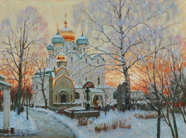 Запуталось солнце в стволах. Новодевичий монастырь. Игорь Рахживин