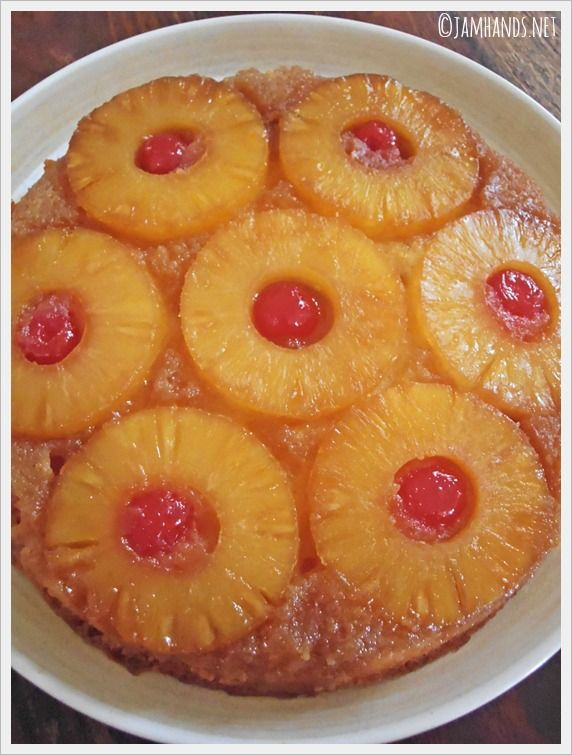 Jam Hands: The Best Pineapple Upside Down Cake / Divide batter between two round cake pans; double the topping & divide between two pans.