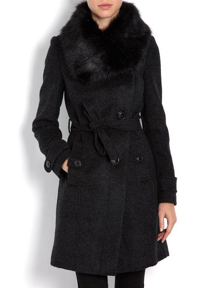 les 25 meilleures id es de la cat gorie manteau col fourrure sur pinterest manteau col de. Black Bedroom Furniture Sets. Home Design Ideas