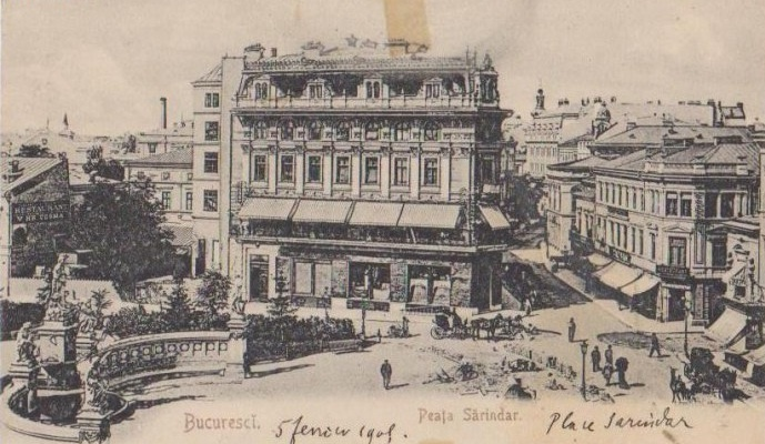 Bucuresti - Piața Sărindar ( Clubul Militar ) - 1905