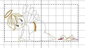 Matrizes grátis Anjo gatinha #embroidery #freeembroidery #bordado #embroiderymachine #bordadogratis #matrizbordado #brother #pe770