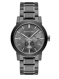 Burberry - Check Stamped Stainless Steel Watch