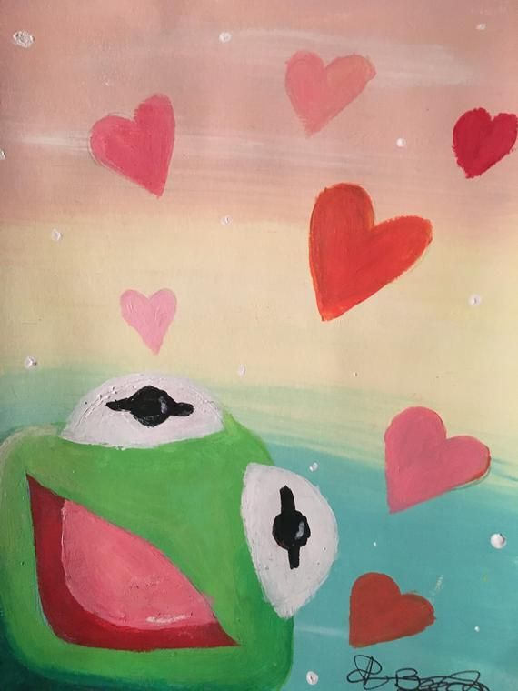 Kermit With Hearts Painting : kermit, hearts, painting, Projects