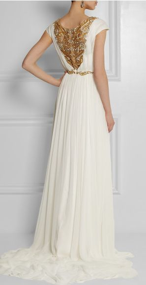 Marchesa. More gold wedding dress ideas
