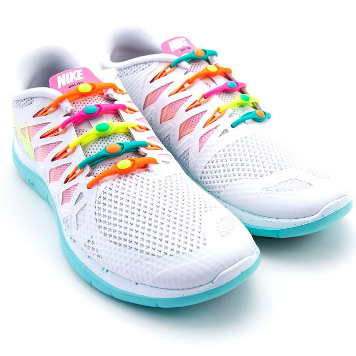 A bow-free, knot-free elastic lacing system that can fit into any running shoe and never comes untied. Really. ($15; hickies.com)