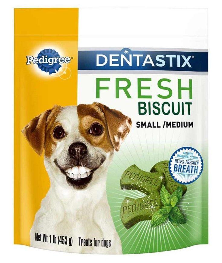 PEDIGREE DENTASTIX Fresh Dental Dog Treats Biscuits - Small/Medium 1 lb. (Pack of 4)