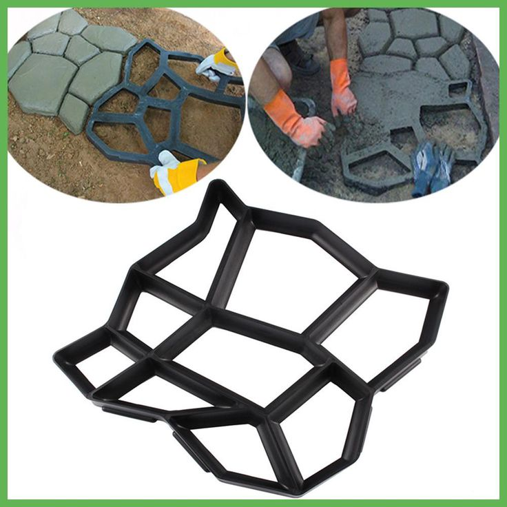 Artificial DIY Garden Stone Walk Maker Mould Pavement Concrete Mold Driveway Paving Brick Patio Moldes Para Concreto Slabs Path