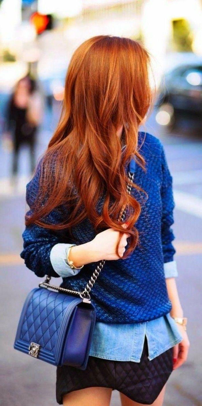 color-de-pelo-de-moda-largo-rojo-amarillo