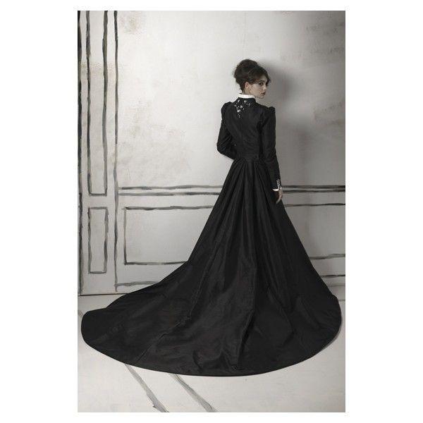 Gothic Black Long Sleeved Taffeta Winter Wedding Gown - effing fabulous.: Fancy Dresses, Wedding Dressses, Black Long, Gothic Wedding Dresses, Gothic Black, Gothic Gowns, Gothic Fabulous, Gothic Long, Hmm Wedding Jackets