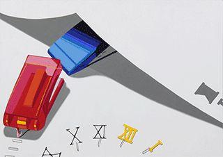 多摩美術大学プロダクトデザイン:入試再現作品:色彩構成