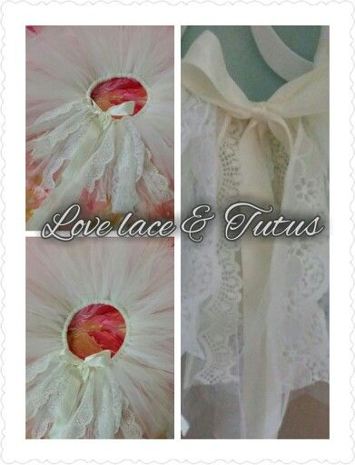 Ivory and lace tutu -handmade
