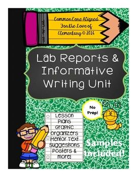 This product was designed to assist teachers with teacher Lucy Calkins' Second Grade writing lab reports and informative unit of study. Calkins is a fantastic writer, but lengthy! These mini-lessons were designed to make teaching your Informative Unit of Study much easier!